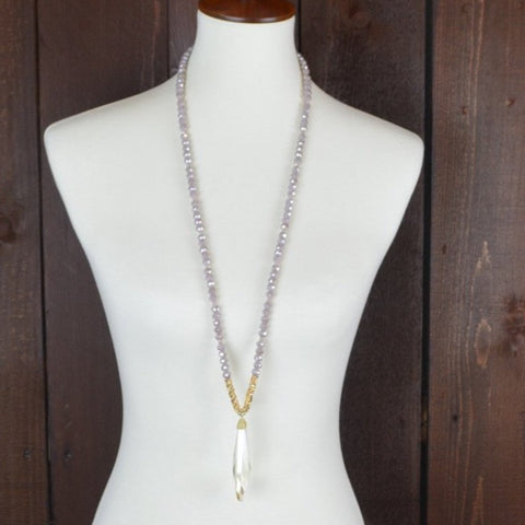 TOPAZ CRYSTAL NECKLACE WITH PENDANT