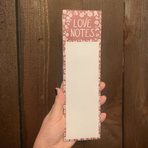 LOVE NOTES LIST NOTEPAD