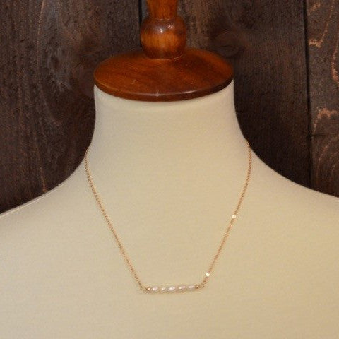 FRESHWATER BAR PEARL NECKLACE 18""
