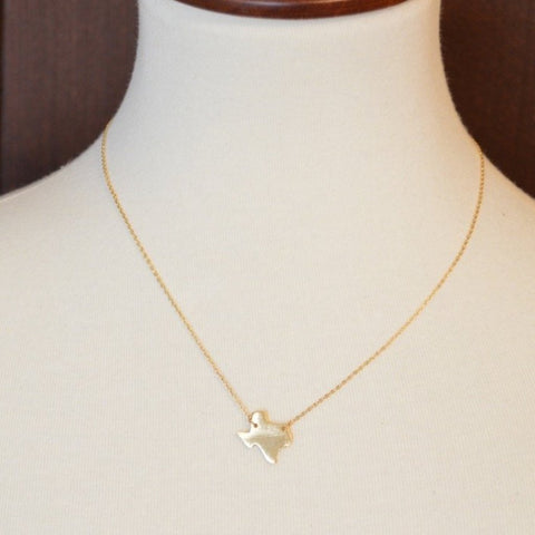 GOLD TEXAS NECKLACE 18""