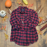 LONG SLEEVE FLANNEL BUTTON UP