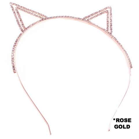 ROSE GOLD CAT EARS HEAD BAND