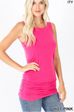 HOT PINK SLEEVELESS TANK