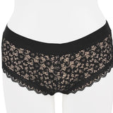 BLACK FLORAL LACE HIPSTER UNDERWEAR