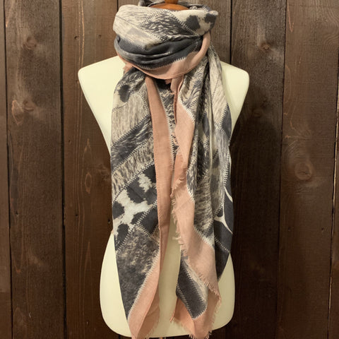 MIXED ANIMAL PRINT SCARF