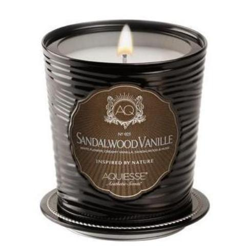 SANDLEWOOD VANILLE, LUXE TIN CANDLE