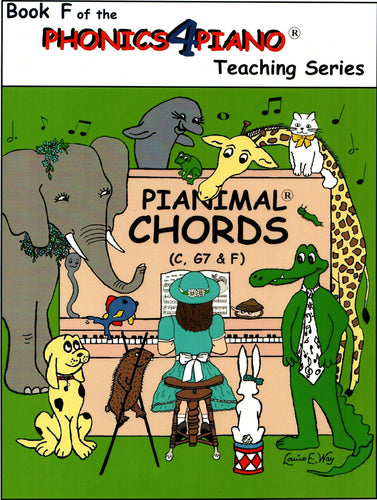 Pianimals Book F - Beginner Piano
