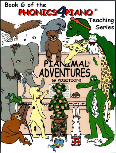 Pianimals Book G - Beginner Piano