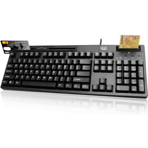 Adesso, Inc EasyTouch 630RB Smart Card & Magnetic Stripe Reader Keyboard