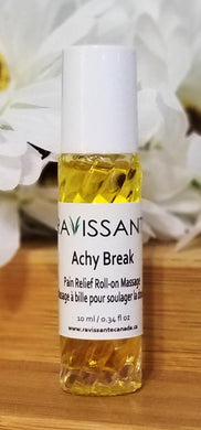 Achy Break Massage Blend with Jojoba Golden Organic Carrier Oil - 10 ml Glass Roller