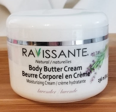 Body Butter Cream - Lavender 8 oz
