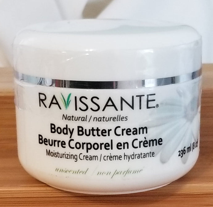 Body Butter Cream - Unscented 8 oz