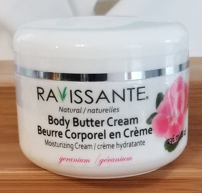 Body Butter Cream - Geranium 8 oz