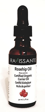 Rosehip Certified Organic Carrier Oil - 30 ml (w glass dropper)