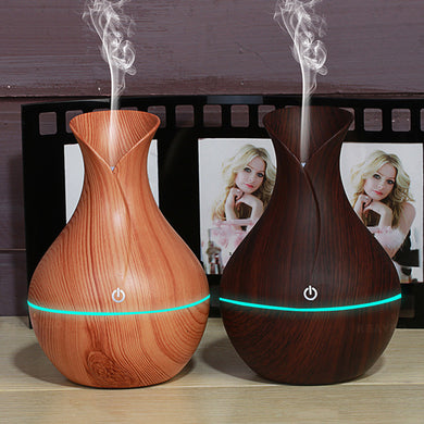 Mini Essential Oil Diffuser with LED Light - 130 ml (For Portable Use w/USB Hookup)