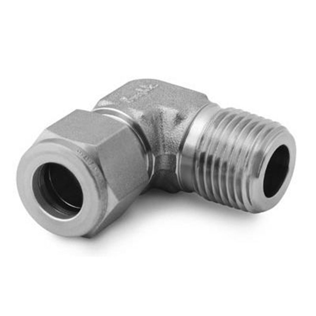 Compression to NPT Adapter 90* Elbow - 3/8