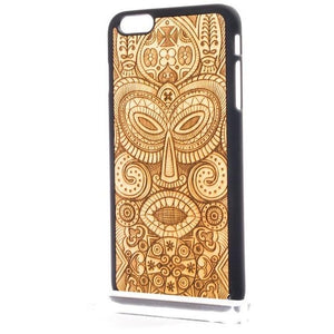 """Tribal Mask"" Luxury Handmade Wooden iPhone & Samsung Case"