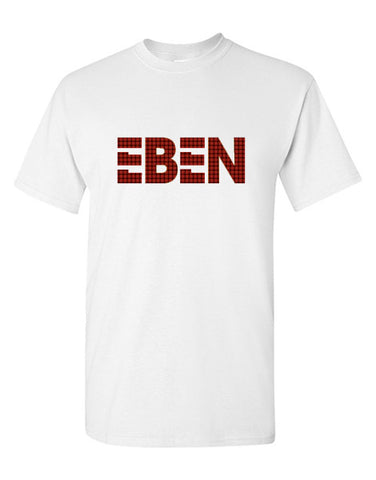 EBEN Plaid Unisex Tee WHITE