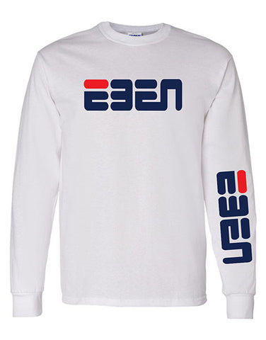 FLASH SALE: EBEN Rounded Unisex Long Sleeve Tee White