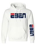 FLASH SALE: EBEN Rounded Unisex Hoodie White