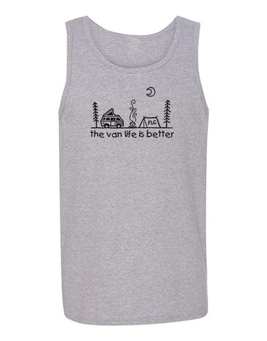 Keep It Simple Unisex Tank Top HEATHER GREY