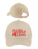 Reptile Zoo Dad Hat STONE