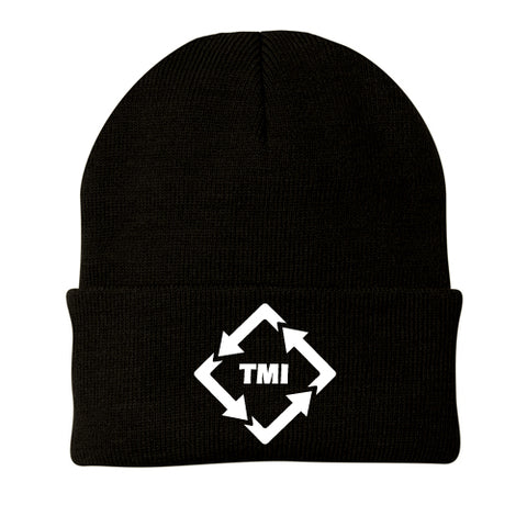 TMI PORT & CO KNIT CAP BLACK