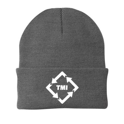 TMI PORT & CO KNIT CAP OXFORD GREY