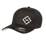 TMI FLEXFIT TWILL CAP -BLACK
