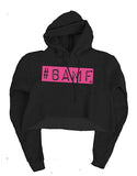Ashley K Fit Pink BAMF Cropped Hoodie