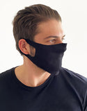 Stretch Mask Lightweight Face Masks Black- Bulk (12 Dozen)