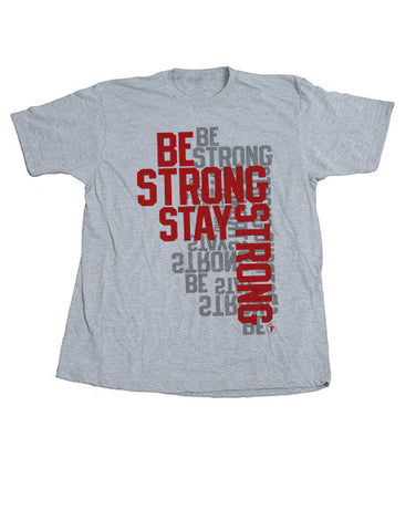 BE STRONG STAY STRONG UNISEX TEE-HEATHER GREY