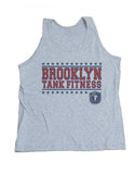 STARS AND STRIPES UNISEX TANK-HEATHER GREY