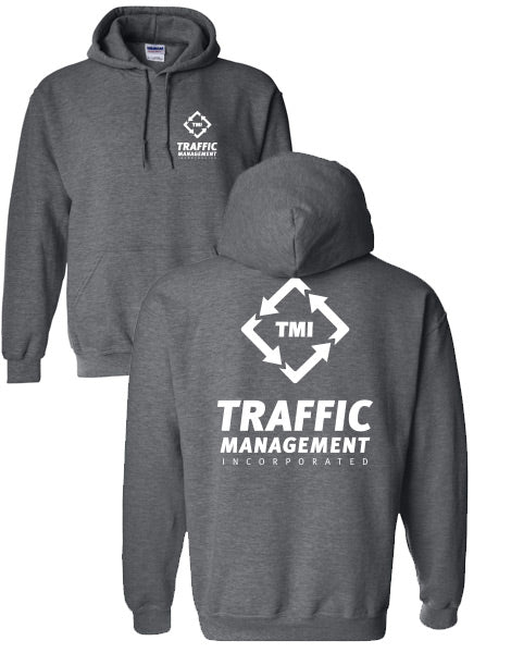 TMI HOODED SWEATSHIRT DARK HEATHER GREY