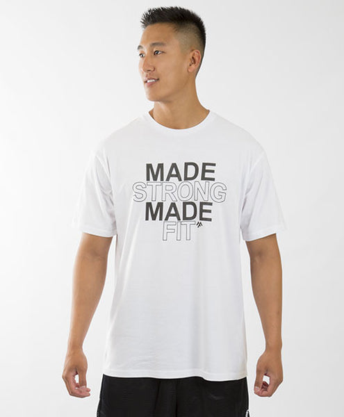 MADE STRONG MADE FIT UNISEX TEE - WHITE