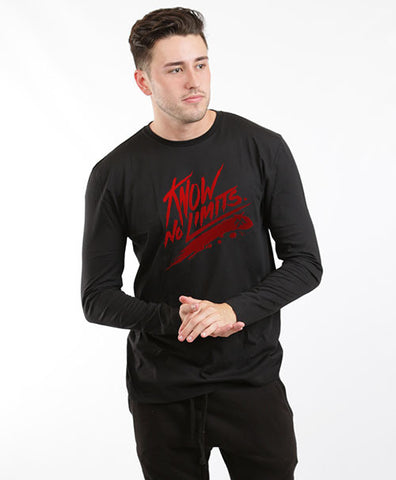 KNOW NO LIMITS UNISEX LONG SLEEVES TEE-BLACK