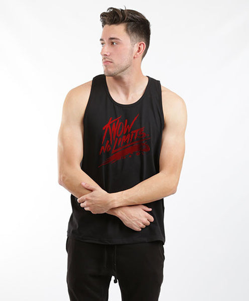 KNOW NO LIMITS UNISEX TANK-BLACK