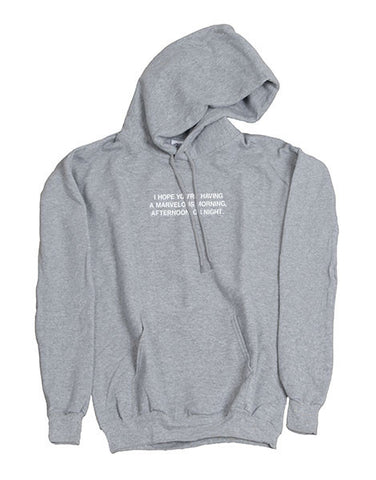 Mel Joy MMAN Hoodie Heather Grey
