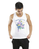 PINK PARROT UNISEX TANK-White