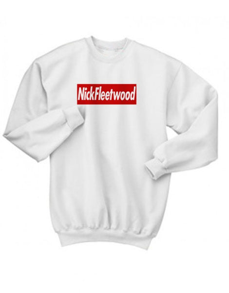 Nick Fleetwood Red Bar Crewneck Sweater