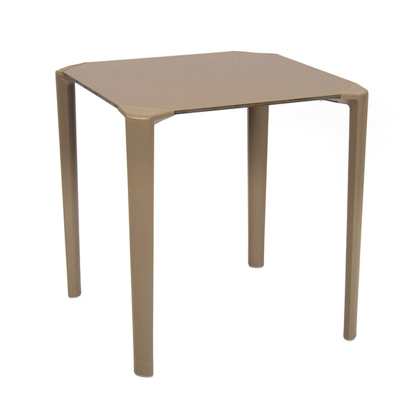 Stacking polypropylene outdoor table