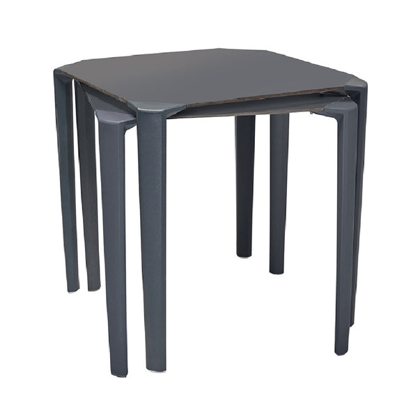 stackable plastic table for outdoor contract use