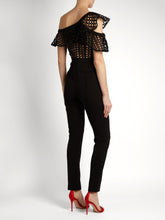 Black Frill Lace Jumpsuit