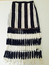 High-Rise Crochet Knit Skirt