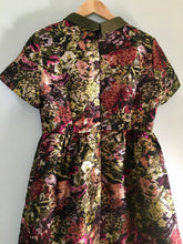Multi-flower Brocade Embellished Mini Dress