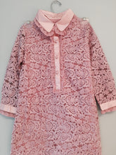 Chaconia Dolls kids button up lace dress