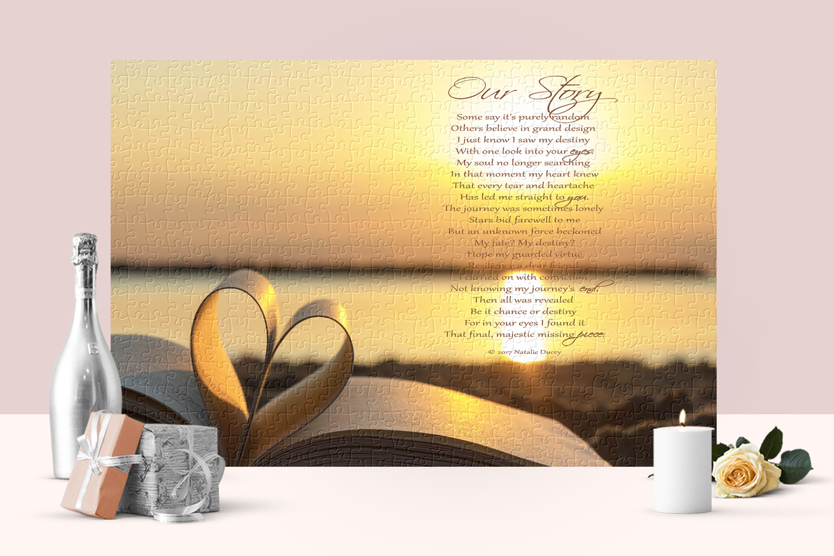 Jigsaw Puzzles with an inspirational verse and message of love