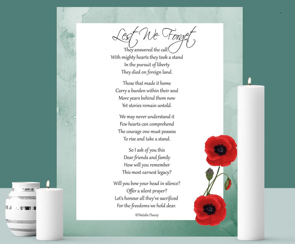 Lest We Forget - Printable Art