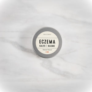 Dulcebee Eczema can be itchy, annoying, and painful! Use this all-natural eczema salve to help moisturize and calm your irritated skin