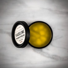 Dulcebee  This natural vaseline contains no petroleum it only contains natural beneficial oils and wax for the skin